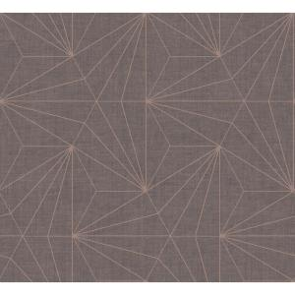 Luzon Brown Geometric Wallpaper Sample