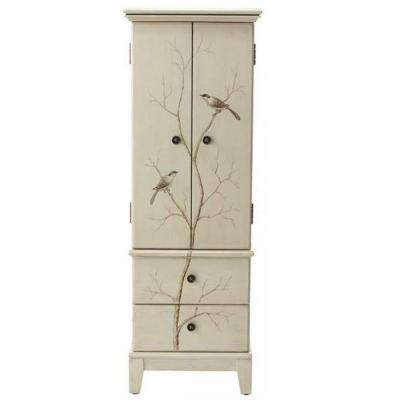 Chirp 46.5 in. x 16 in. 8-Drawer Chest in Cream