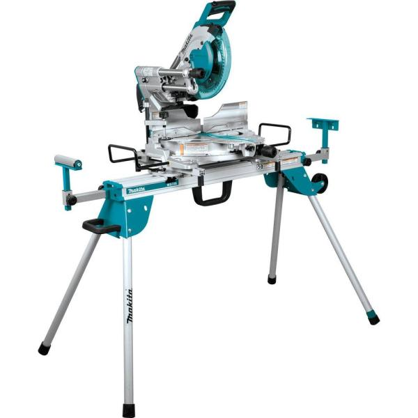 15 Amp 10 in. Dual-Bevel Sliding Compound Miter Saw with Laser and Stand