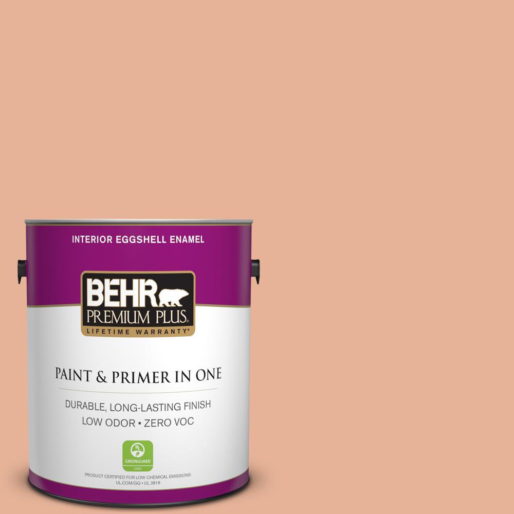 BEHR Premium Plus 1-gal. #M210-4 Peach Shortcake Eggshell Enamel Interior Paint