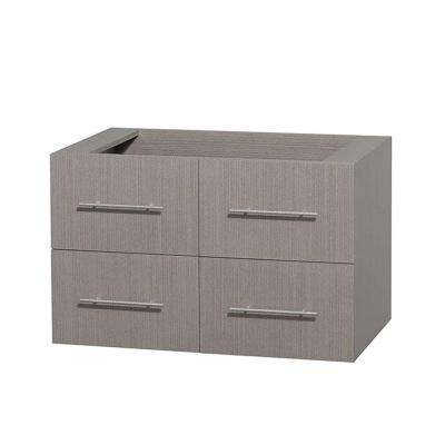 Centra 35 in. Vanity Cabinet Only in Gray Oak