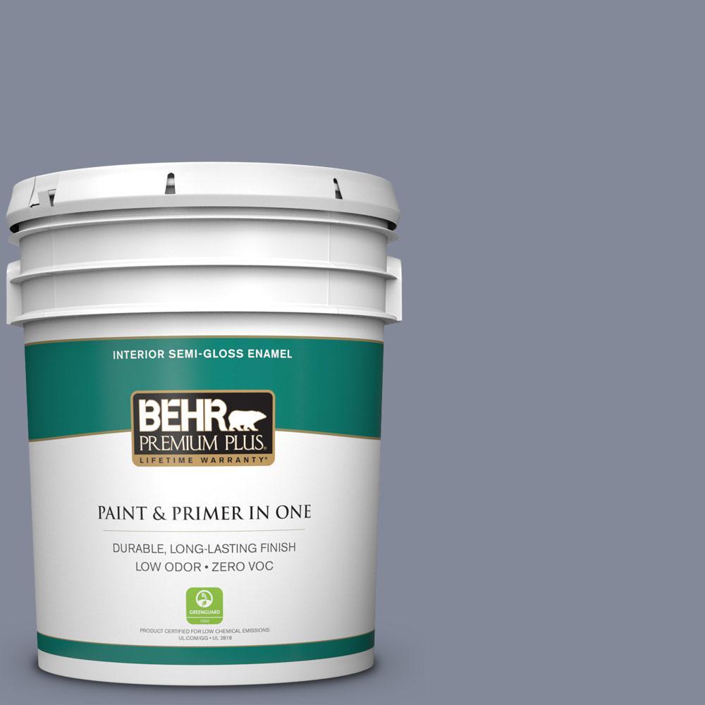 5 gal. #PPU15-08 River Tour Zero VOC Semi-Gloss Enamel Interior Paint