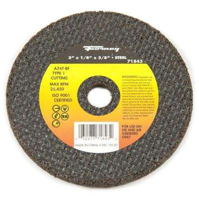 3 in. x 1/8 in. x 3/8 in. Metal Type 1 Cut-Off Wheel