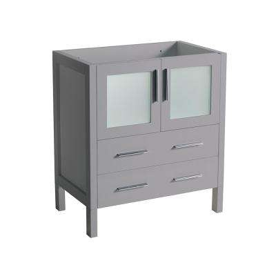 Torino 30 in. W Modern Bath Vanity Cabinet Only in Gray