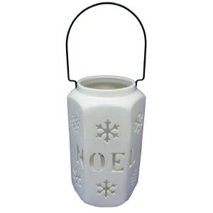 12 in. Large white NOEL Luminary