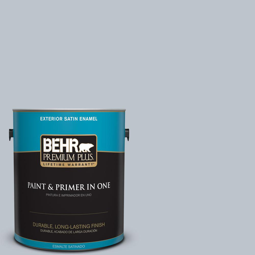 1-gal. #N490-2 Icicles Satin Enamel Exterior Paint