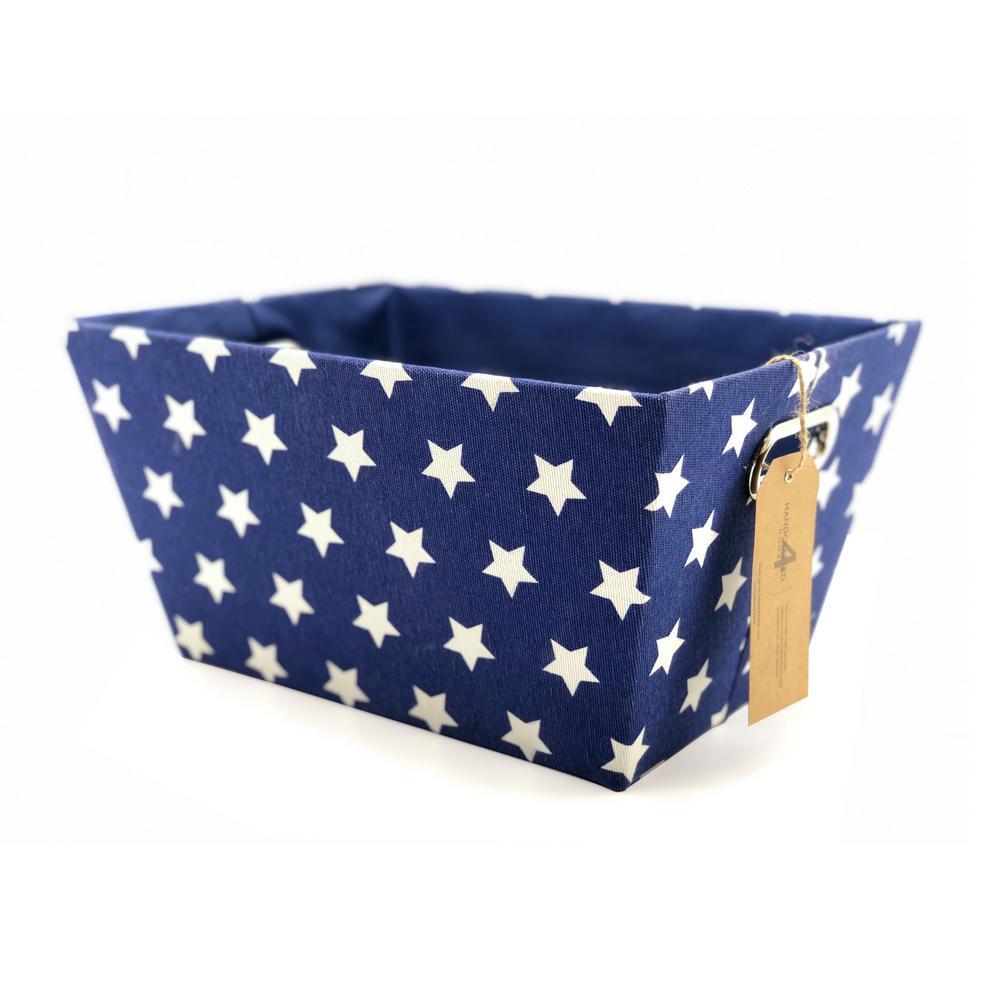 11 in. D x 15 in. W x 7.87 in. H Blue Rectangular Cardboard Storage Bin (Set of 2)