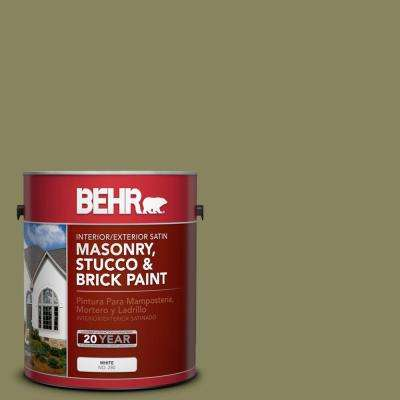 1 gal. #S350-5 Green Scene Satin Interior/Exterior Masonry, Stucco and Brick Paint