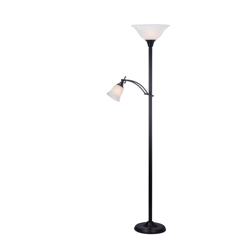 72 in. Mother/Daughter Floor Lamp in Black