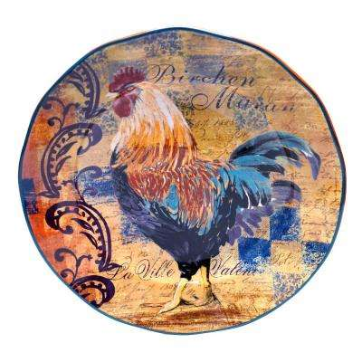 Rustic Rooster Round Platter