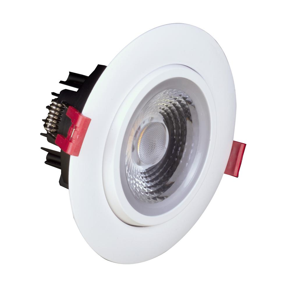 Nicor 4 in. White 3000K Remodel IC-Rated Recessed Integrated LED Gimbal Downlight Kit