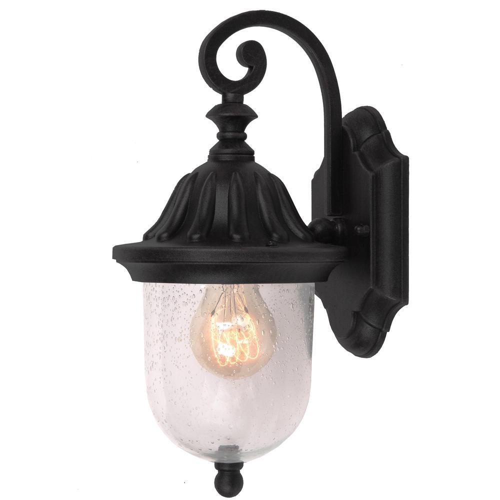 Vincent 1-Light Black Outdoor Wall Mount Lantern