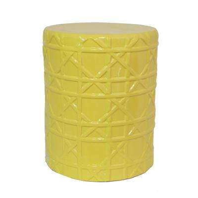 13 in. x 13 in. Yellow Garden Stool