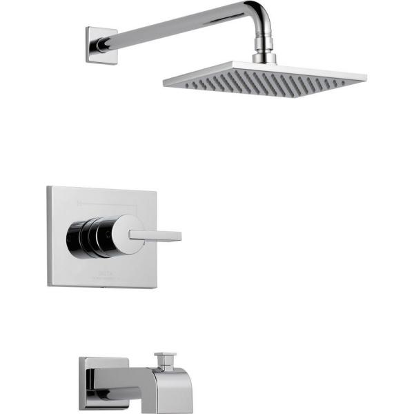 Vero 1-Handle Tub and Shower Faucet Trim Kit Only in Chrome (Valve Not Included)