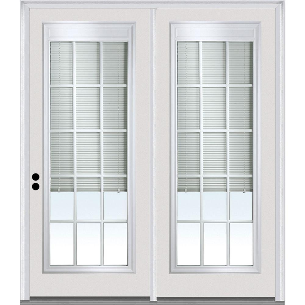 MMI Door 72 in. x 80 in. Primed Clear LowE Glass RLB GBG ...