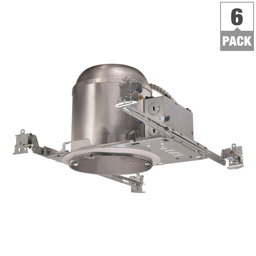 Halo h750 6 in aluminum led recessed lighting housing for new aluminum led recessed lighting housing for new construction ceiling t24 ic rated air tite 6 pack aloadofball Image collections