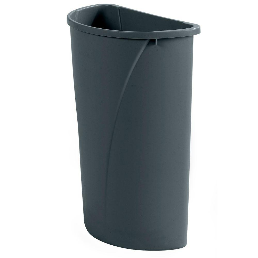 Gray Half Round Trash Can 4 Case