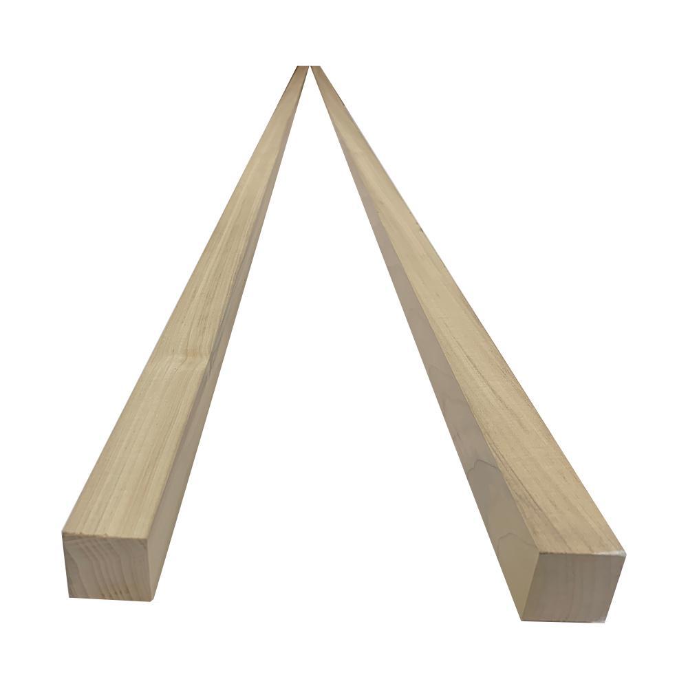 2 in. x 2 in. x 8 ft. Poplar S4S Board (2-Pack)