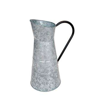 236 oz. Gray Classic Galvanized Metal Jug with Handle