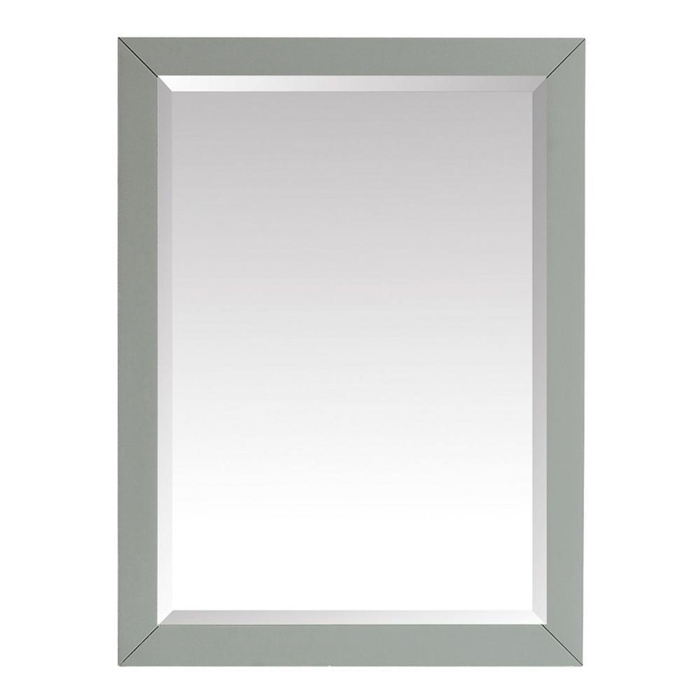 Windlowe 28 in. x 32 in. Framed Mirror in Sea Green