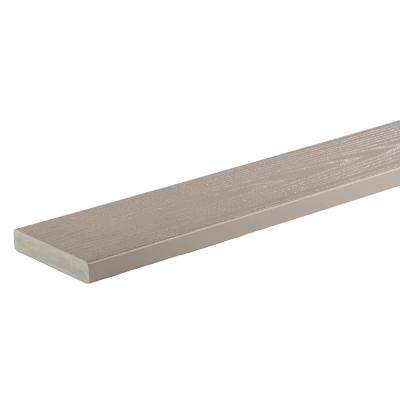 AZEK Harvest Collection 1 in. x 5-1/2 in. x 16 ft. Solid Slate Gray PVC Decking Board