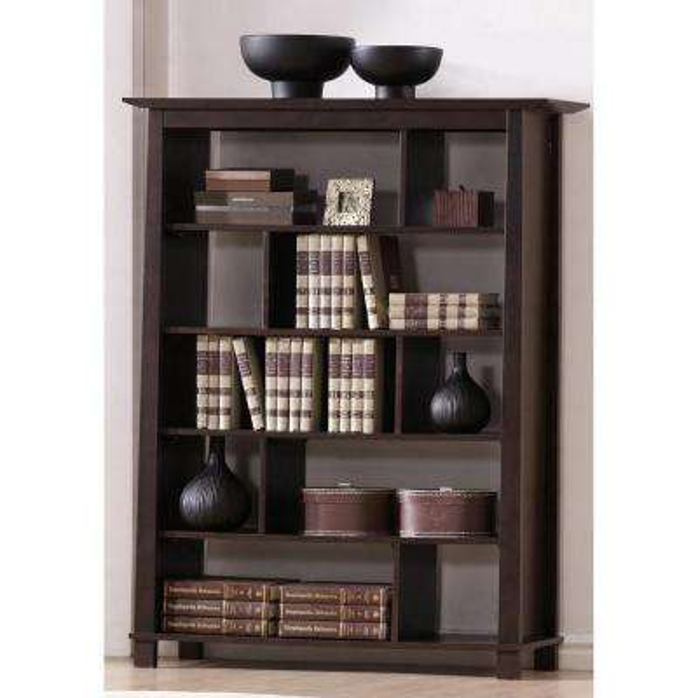 Havana Dark Brown Wood 5-Tier Open Shelf