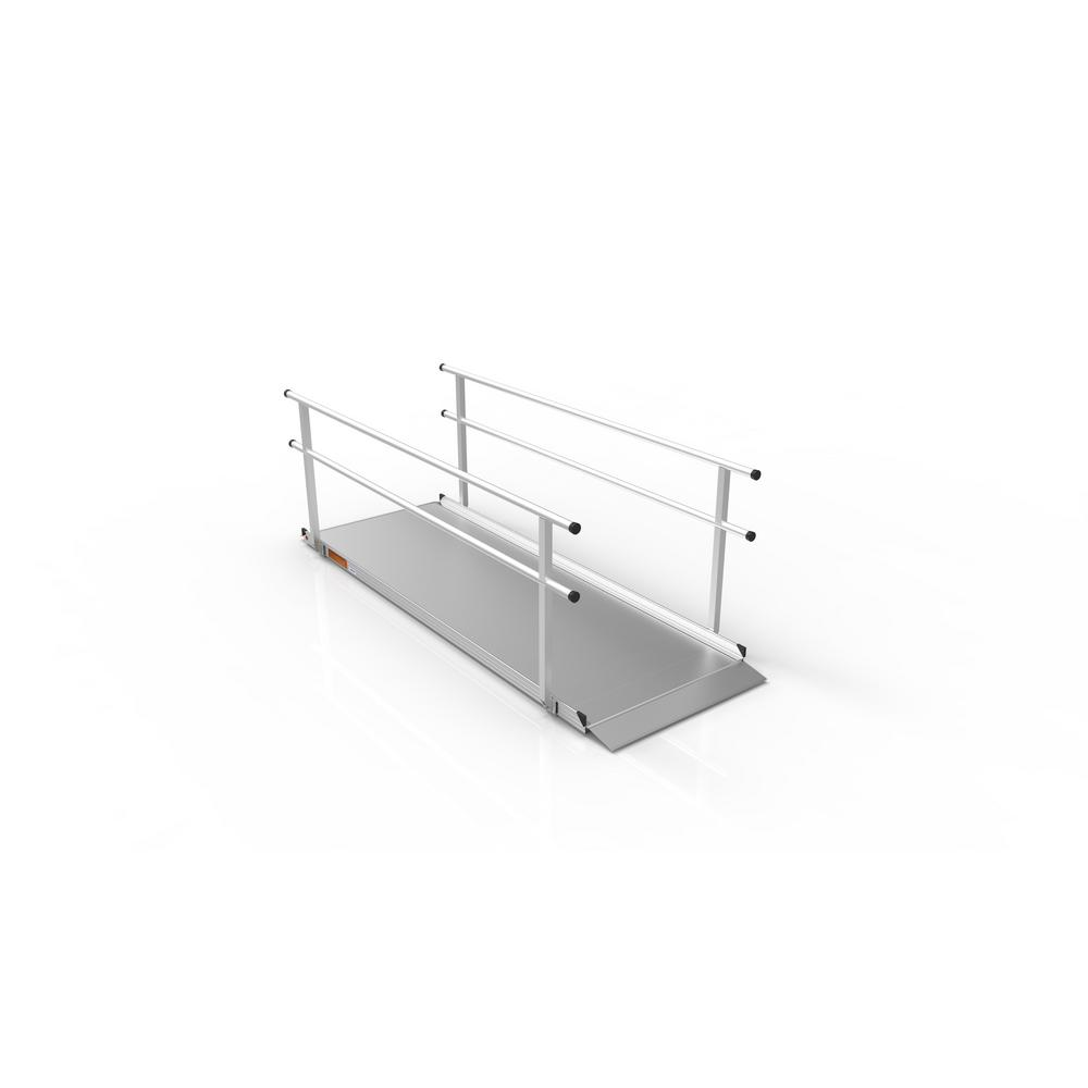 Gateway 9 ft. Aluminum Portable Ramp with Handrails