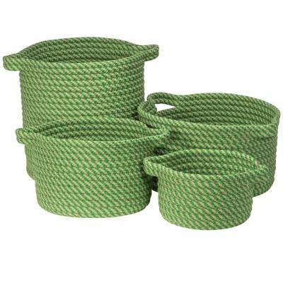 Charlotte Round Shamrock Polypropylene Indoor/Outdoor Basket (Set of 3)
