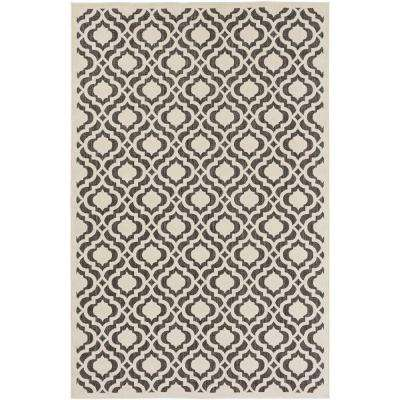 Mangiu Ivory 9 ft. x 12 ft. Indoor/Outdoor Area Rug