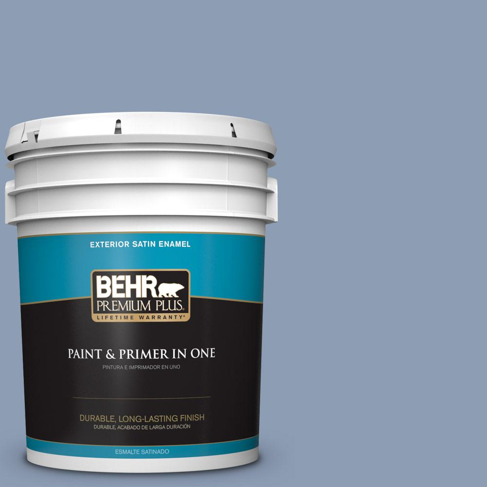 5 gal. #PPU15-10 China Silk Satin Enamel Exterior Paint