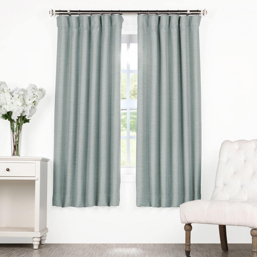 Gulf Blue Bellino Blackout Room Darkening Curtain - 50 in. W x 63 in. L
