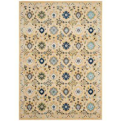Evoke Gold/Ivory 4 ft. x 6 ft. Area Rug
