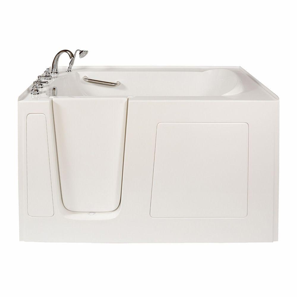 Walk In Bathtub In White With