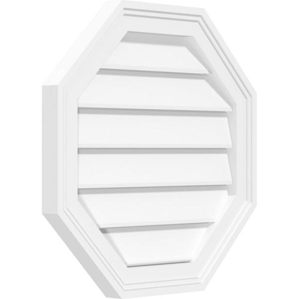 Ekena Millwork GVPVE20X3403SF Vertical Surface Mount PVC Gable Vent 20W x 34H Factory Primed White