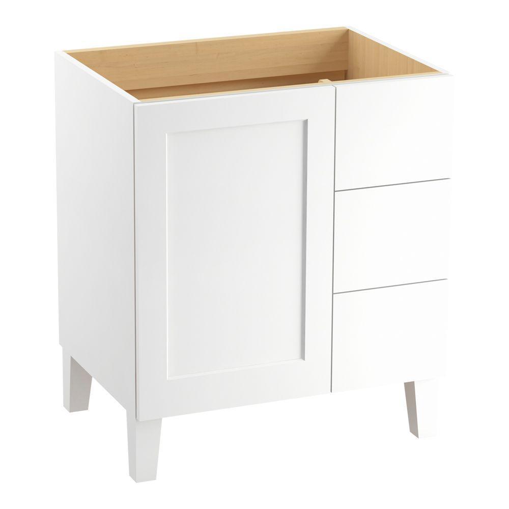 Poplin 30 in. W Vanity Cabinet in Linen White