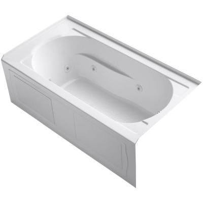 Devonshire 60 in. x 32 in. Acrylic Alcove Whirlpool Bathtub with Integral Apron and Right-Hand Drain in White