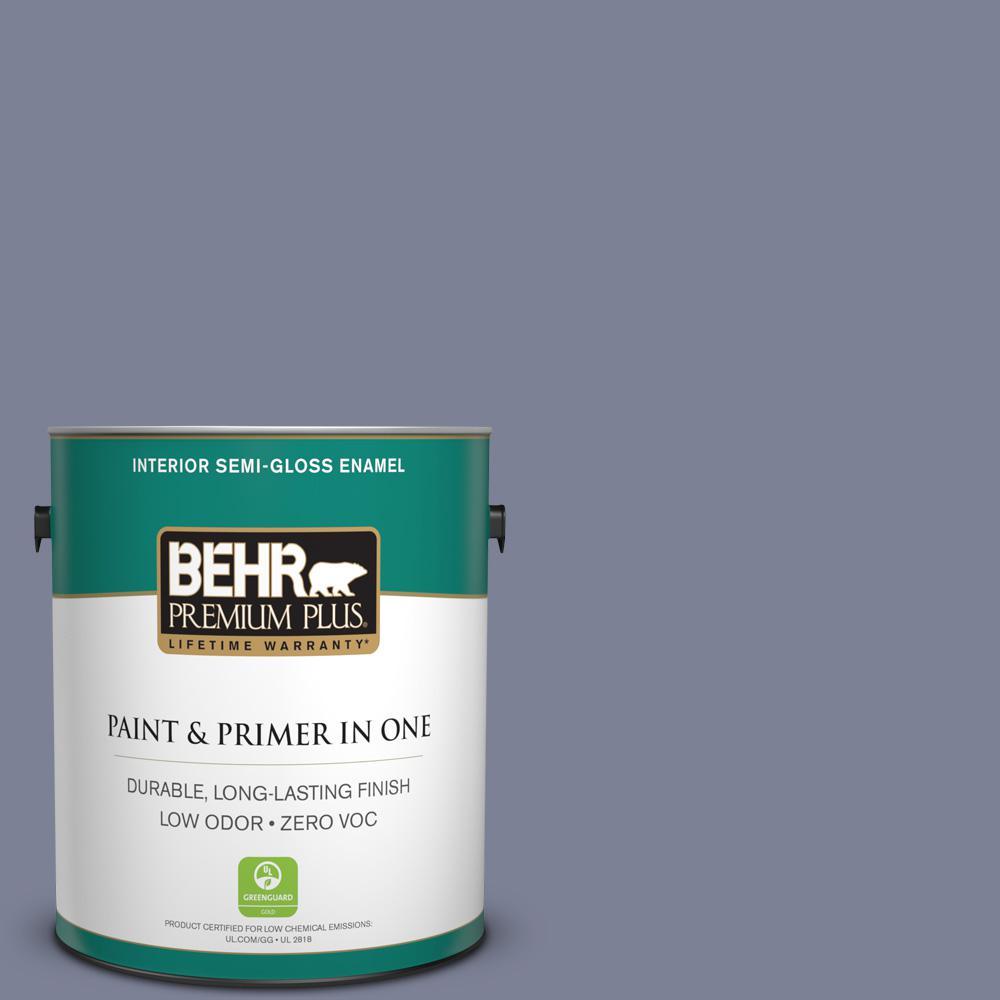BEHR Premium Plus 1-gal. #610F-6 Deep Smoke Signal Zero VOC Semi-Gloss Enamel Interior Paint