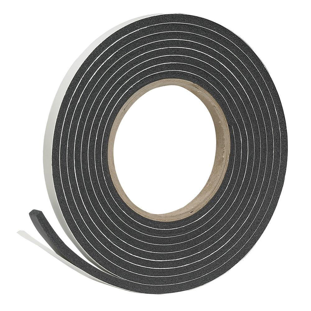 Frost King E/O 3/8 in. X 3/16 in. X 10 ft. Black High-Density Rubber Foam Weatherstrip Tape