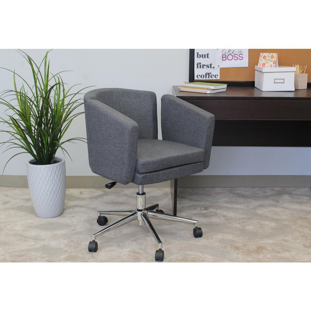 Slate Grey Metro Club Desk Chair