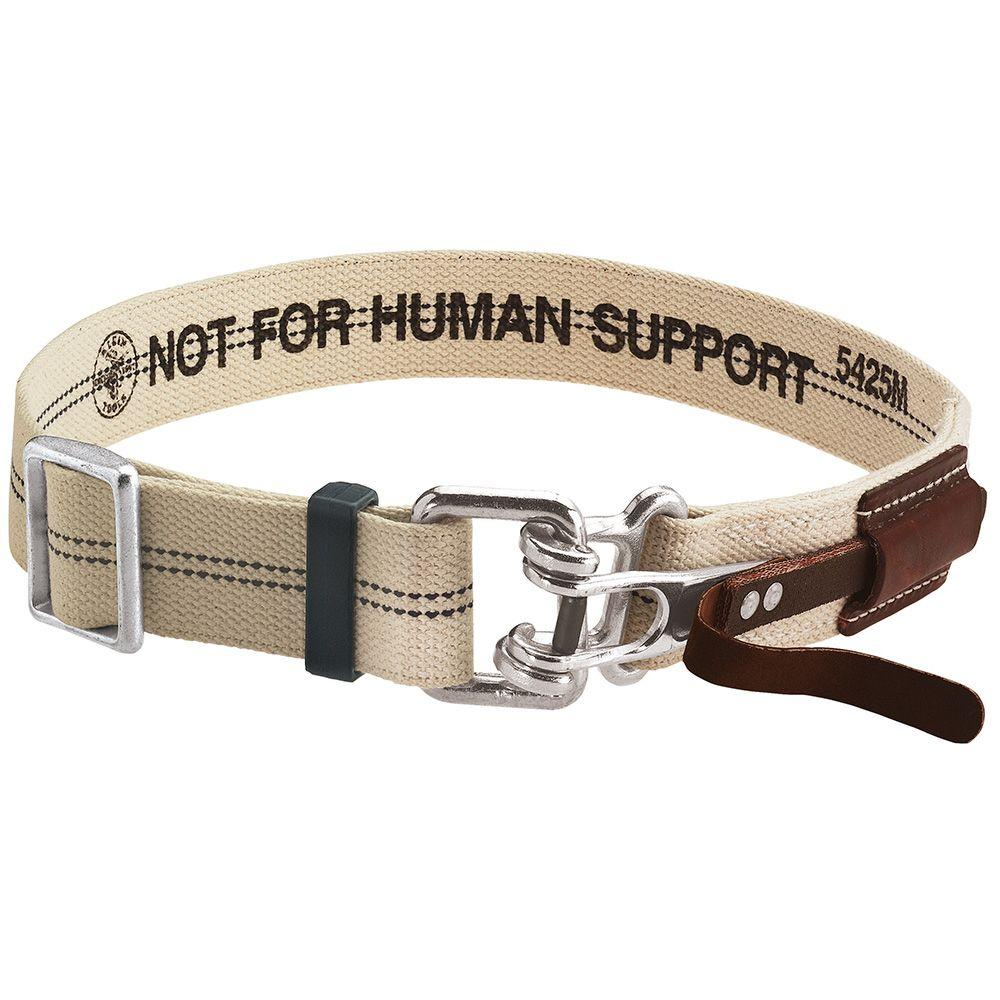 Medium Beige Cotton/Polyester Blend Tool Belt with Quick-Release Buckle