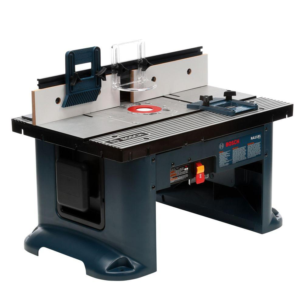 Bosch 27 In X 18 In Aluminum Top Benchtop Router Table With 2 1 2 In Vacuum Hose Port