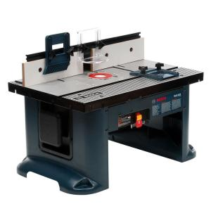 Ryobi universal router table a25rt03 the home depot aluminum top benchtop router table with greentooth Gallery
