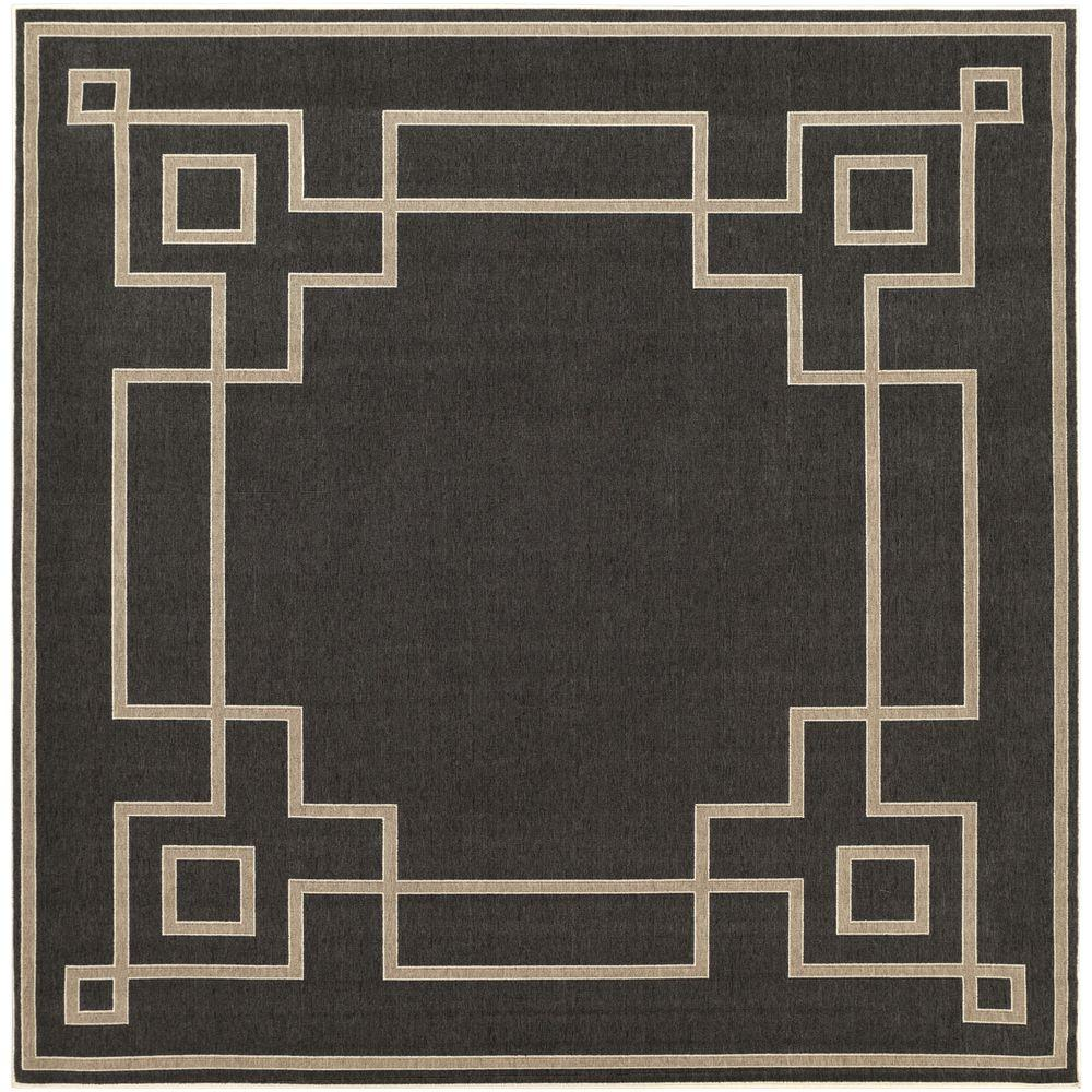 Artistic Weavers Blanche Black 8 ft. 9 in. x 8 ft. 9 in. Square ...