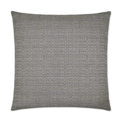 Jackie-O Gunmetal Feather Down 24 in. x 24 in. Decorative Throw Pillow