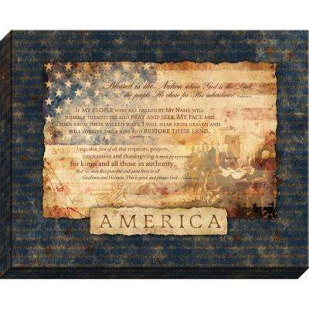 """Patriotic """"America"""" By Carpentree Canvas"""