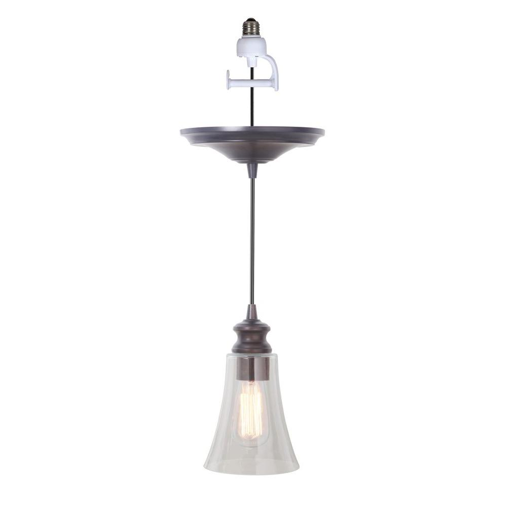 Portfolio Antique Bronze Recessed To Pendant Light