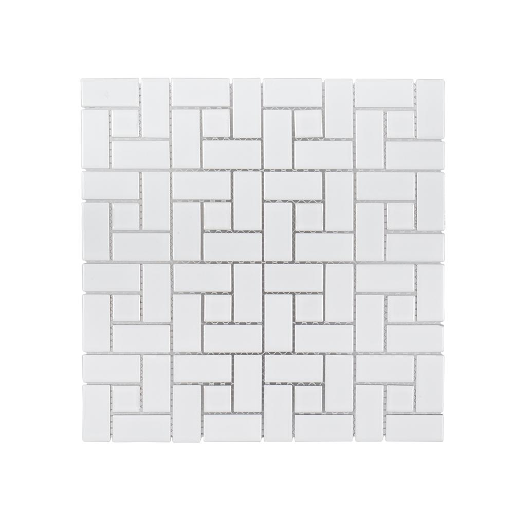 Windmill White 11.625 in. x 11.625 in. x 6 mm Porcelain