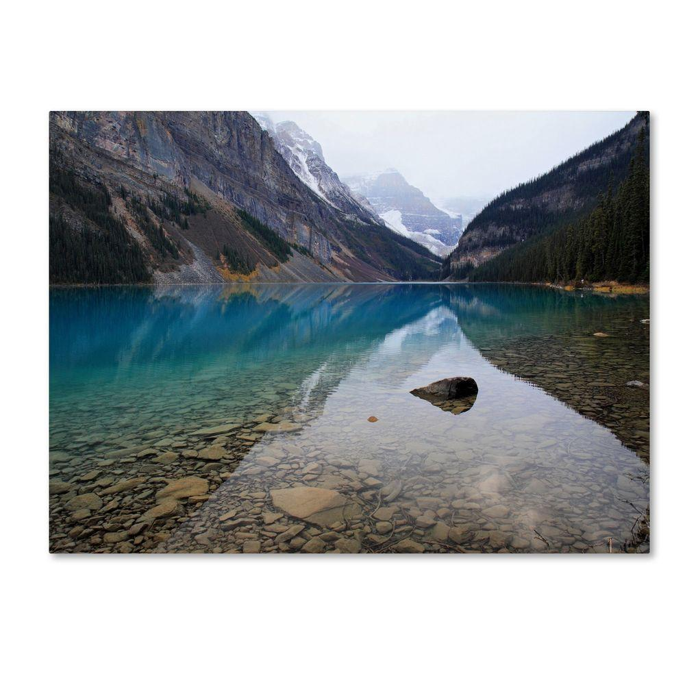 Trademark Fine Art 14 in. x 19 in. Lake Louise Canvas Art