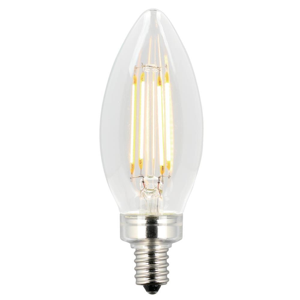 Westinghouse 60w Equivalent Clear B11 Dimmable Filament Led Light Bulb 2 Pack 5062000 The