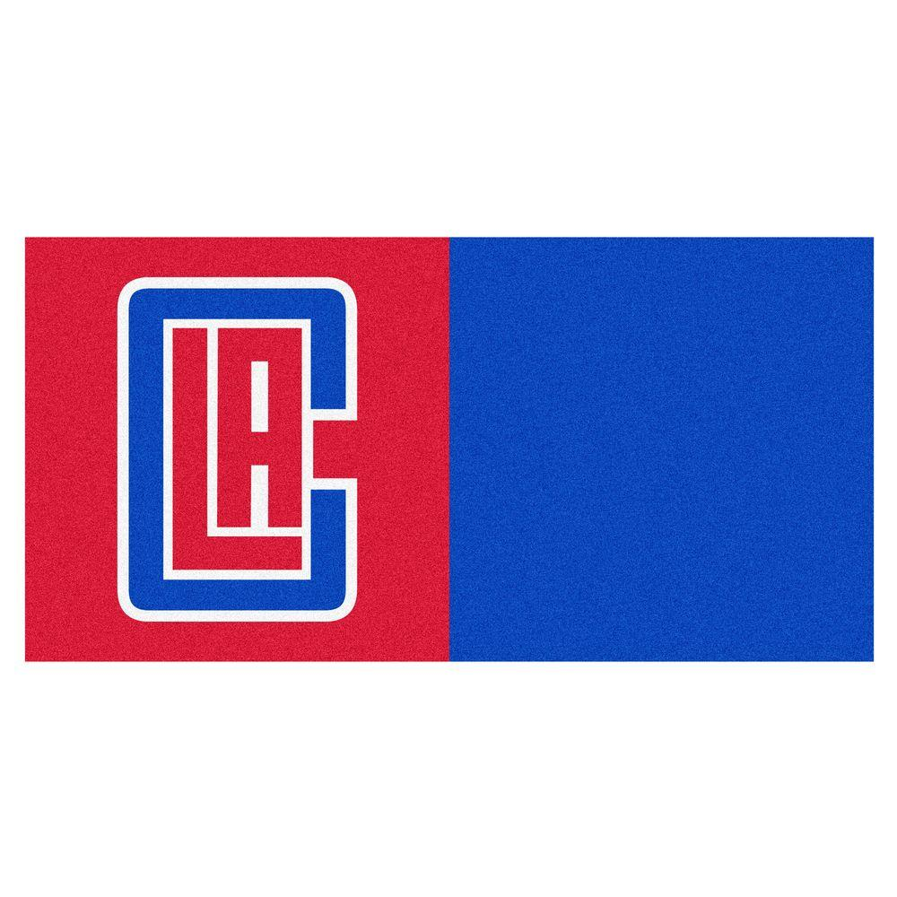 NBA Los Angeles Clippers Red and Blue Pattern 18 in. x